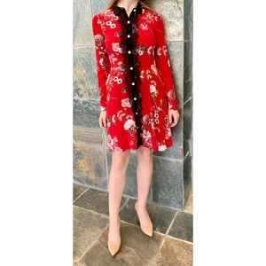 The Kooples Paris, Floral Button-Down Dress